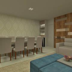 Sala estar/jantar: Salas de jantar ecléticas por GABRIELA GUERREIRO | ARQUITETURA