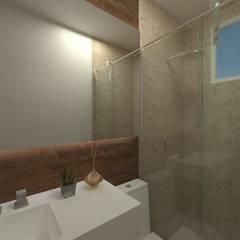 FLUTUANTE RIBEIRINHO: Banheiros rústicos por GABRIELA GUERREIRO   ARQUITETURA