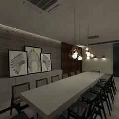 INTERIORES | APARTAMENTO R+F: Salas de jantar industriais por GABRIELA GUERREIRO | ARQUITETURA