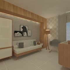 Dormitorios de bebé de estilo  por GABRIELA GUERREIRO | ARQUITETURA,