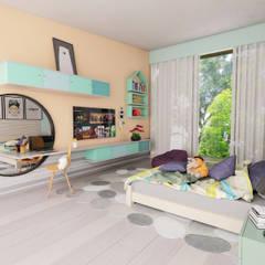 Casa RD: Recámaras infantiles de estilo moderno por emARTquitectura