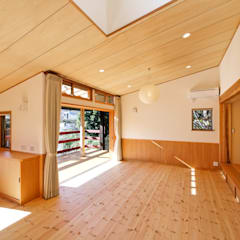 百草の家: アービア設計事務所が手掛けたリビングです。