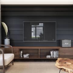 غرفة المعيشة تنفيذ Tobi Architects
