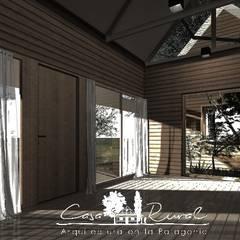 Entrada: Pasillos y hall de entrada de estilo  por casa rural