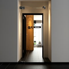 Arcoris Mont Kiara:  Corridor & hallway by Norm designhaus, Scandinavian