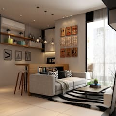 Arcoris Mont Kiara:  Living room by Norm designhaus