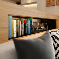 book shelf:  Living room by Norm designhaus