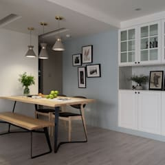 scandinavian Dining room by 寓子設計