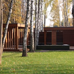 Проект загородного дома: Tерраса в . Автор – AMG project