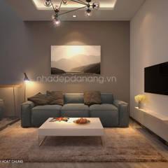 Thiết kế nhà đẹp 3 tầng Khu đô thị sinh thái Hòa Xuân, TP. Đà Nẵng:  Phòng giải trí by AVA Architecture