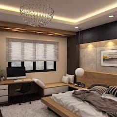 asian Bedroom by Công ty thiết kế xây dựng Song Phát