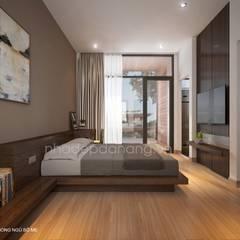 Thiết kế nhà phố đẹp tại Đà Nẵng:  Phòng ngủ by AVA Architecture