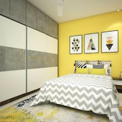 residential Interiors: asian Bedroom by Modulart