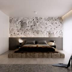 Pent House Quinta dos Alcoutins, Lumiar: Quartos  por Inêz Fino Interiors, LDA
