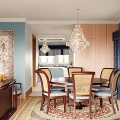 Pent House Apartment with middle eastern and oriental twist, Estoril: Salas de jantar  por Inêz Fino Interiors, LDA