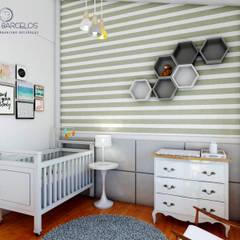 Design de Interiores A|R: Quarto infantil  por Tayrine Barcelos Arquitetura e Decoração
