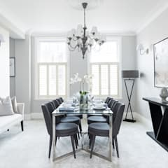 South Kensington Flat:  Dining room by London Home Staging Ltd