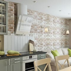 Kitchen by студия Design3F, Scandinavian