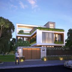Thiết kế biệt thự hiện đại 3 tầng:  Nhà by AVA Architecture, Hiện đại