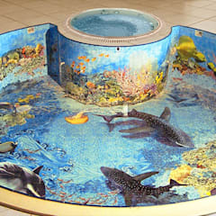 Swimming pond by Unique Tiles,