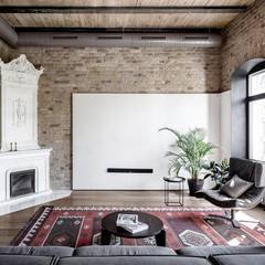 Villa in Surat: scandinavian Living room by Athrva architect