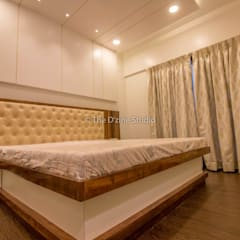 3 bhk complete home interiors in Blue Ridge Township ( Pune) :  Bedroom by The D'zine Studio
