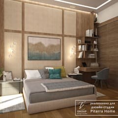 غرفة نوم تنفيذ Design studio TZinterior group
