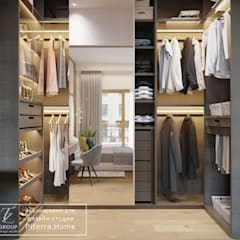 Walk in closet de estilo  por Design studio TZinterior group