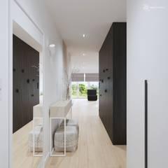 White and bright house interior. Jasne wnętrze domu  :): styl , w kategorii Korytarz, przedpokój zaprojektowany przez SARNA ARCHITECTS   Interior Design Studio