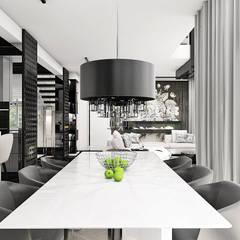 THE ONLY GAME IN TOWN | I | Wnętrza domu: styl , w kategorii Jadalnia zaprojektowany przez ARTDESIGN architektura wnętrz