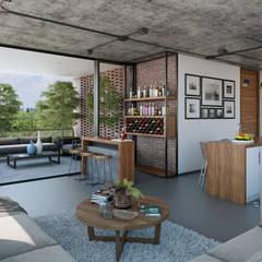 Area Social: Comedores de estilo industrial por Stuen Arquitectos
