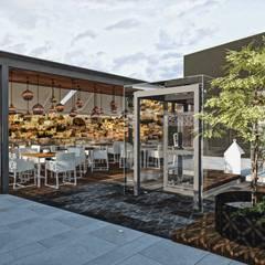 Exterior día: Restaurantes de estilo  por Rapzzodia Interiorismo