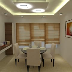 Interior of a 3Bhk apartment:  Dining room by I Jerifa