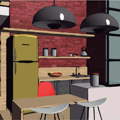 LOFT INDUSTRIAL: Cocinas de estilo  por Granada Design