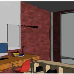 LOFT INDUSTRIAL: Estudios y oficinas de estilo  por Granada Design