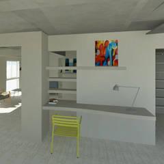 DEPARTAMENTO FAMILIAR: Estudios y oficinas de estilo moderno por Granada Design