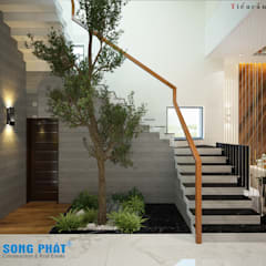 Escalier de style  par Công ty thiết kế xây dựng Song Phát