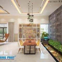 غرفة السفرة تنفيذ Công ty Thiết Kế Xây Dựng Song Phát