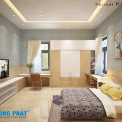 غرفة نوم تنفيذ Công ty Thiết Kế Xây Dựng Song Phát
