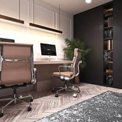 Apartament w Londynie - strefa dzienna: styl , w kategorii Domowe biuro i gabinet zaprojektowany przez Ambience. Interior Design