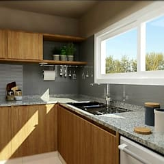 Cocina con Isla: Cocinas de estilo  por VI Arquitectura & Dis. Interior,Moderno Granito