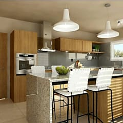 Cocina con Isla: Cocinas de estilo  por VI Arquitectura & Dis. Interior,Moderno