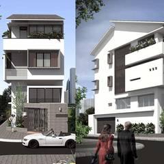 thiết kế Biệt thự hiện đại:  Cửa trước by CÔNG TY THIẾT KẾ NHÀ ĐẸP SANG TRỌNG CEEB, Hiện đại