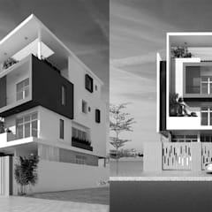 thiết kế nhà phố hiện đại:  Cửa trước by CÔNG TY THIẾT KẾ NHÀ ĐẸP SANG TRỌNG CEEB, Hiện đại