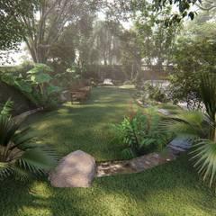 รับออกแบบและจัดสวนแนวป่าธรรมชาติ:  โรงแรม by คิดดี ดีไซน์ แอนด์ คอนสตรัคชั่น