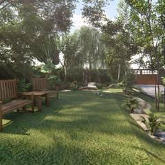 รับออกแบบและจัดสวนแนวป่าธรรมชาติ:  โรงเรียน by คิดดี ดีไซน์ แอนด์ คอนสตรัคชั่น