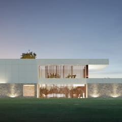 CASA MALLADOURA: Casas unifamilares de estilo  de EAU ARQUITECTURA S.L.P.