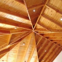 Vivienda González por ARKITEKTURA: Livings de estilo  por ARKITEKTURA, Rural Madera Acabado en madera