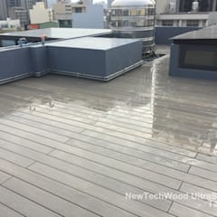 Terrazas en el techo de estilo  por 新綠境實業有限公司