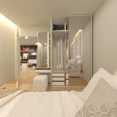 The Line Condominium:  ห้องนอน by Prime Co.,ltd